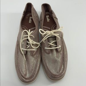 KEDS taupe shimmery sneakers